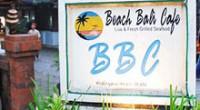 南国の楽園バリ島の誇る「インド洋に沈む夕陽」……その美しさを堪能できるシーフードレストランをご紹介します。 南部リゾートのジンバラン地区にあるビーチ・バリ・カフェ(BBC)さんです。 BBCさんは魚介類の浜焼で有名なイカ...