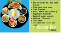 2015年2月情報!バリ島のタンジュンベノアでお食事とバナナボートなら、Mr. Bali Crabもあります。 こちらは、 4名様以上でご予約ができます。ホテルお送り込み(タンジュンベノア・ヌサドゥア・ジンバラン・クタ)...