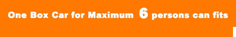 one box car Car for Maximum 6 persons
