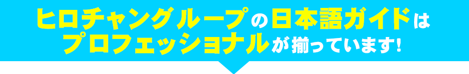 ヒロチャングループの日本語ガイドは、プロフェッショナルが揃っています!