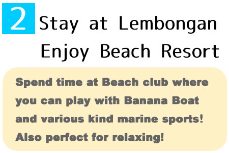 Beach club cruise include stay at beach club and many kind of marinesports!