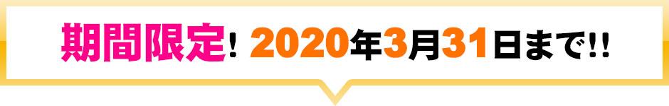 期間限定!!2020年03月31日まで!!