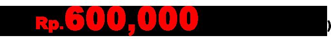 追加Rp.600,000 /1名(シュノーケリング込み)