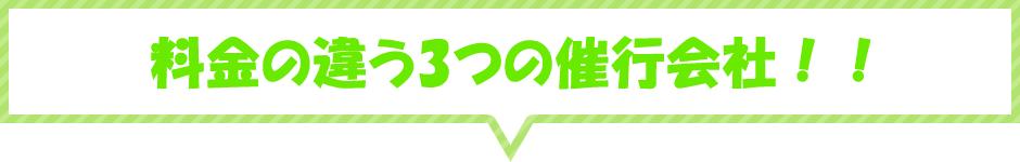 料金の違う3つの催行会社!!