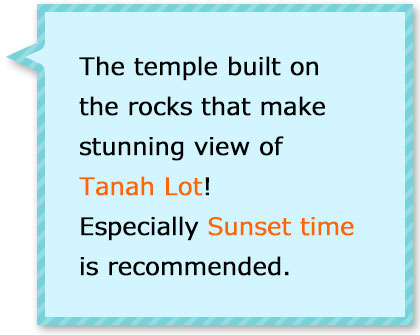 The temple build on the rocks that makes photogenic sight during sunsets!