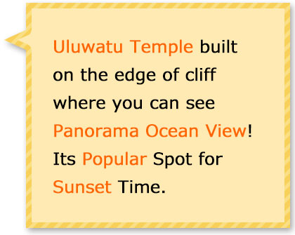 The Temple Build on Edge of Cliff where you can see panorama view of Indian ocean