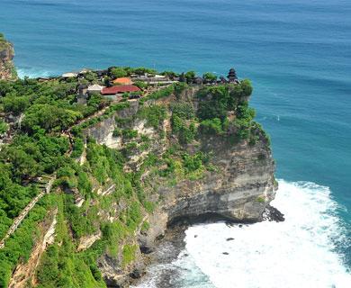 Bali Uluwatu temple on the edge of cliff
