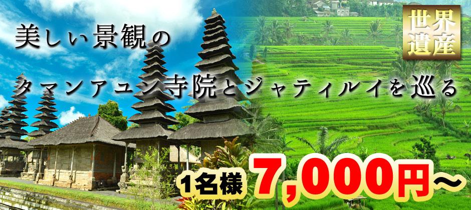 バリ島 世界遺産 タマンアユンとライステラスツアー!美しい景観のタマンアユン寺院とジャティルイを巡る 1名様7,000円~