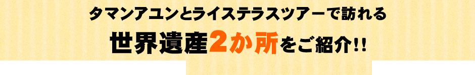 タマンアユンとライステラスツアーで訪れる世界遺産2か所をご紹介!!