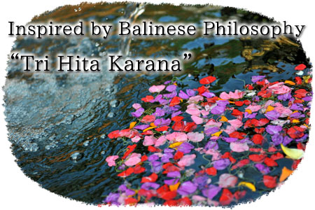 Inspired by the Balinese philosophy Tri Hita Karana
