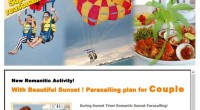 HIRO-Chan Group Parasailing for Couple by BMR This is recommended new marine activity! You can try para-sailin...