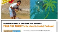HIRO-Chan Group Turtle Island & Snorkel KANAKA OPEN!!! This is out door education for kids! you can visit ...