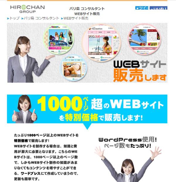 WEBサイト販売