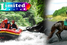 バリ島 観光Seasonal Rafting + Horse Riding