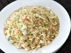 ホタテ貝と卵白の炒飯