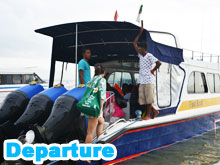Leave to Lembongan by speed boat